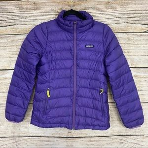 Patagonia Purple Puffy Down Jacket